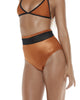 Mesh Insert High Waisted Brief - Wetlook Copper