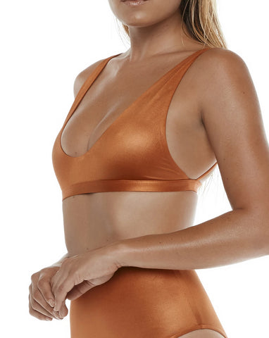 Apex Bra Wetlook Copper