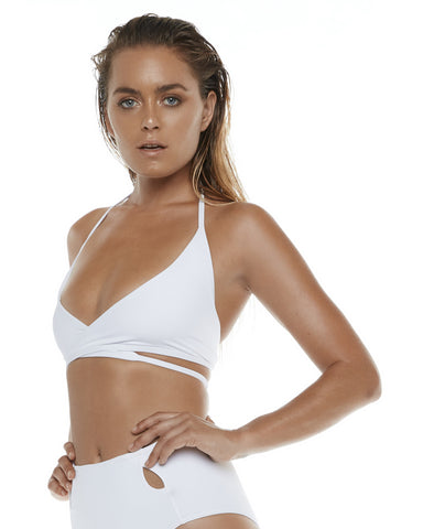 Criss Cross Bra - White