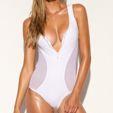 Zip Tank One Piece Crisp