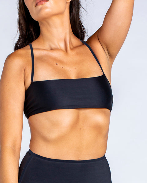Minimal Bandeau Bra in  Black