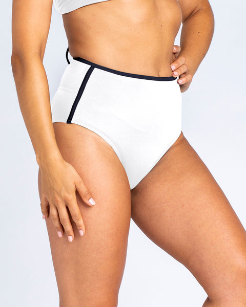 Sports High Waisted Brief - White
