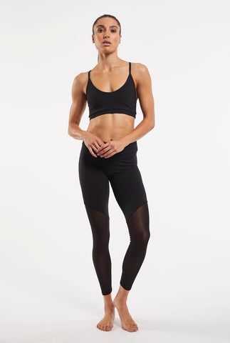 Split Mesh Legging