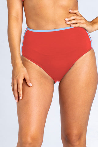 Sports High Waisted Brief - Rust