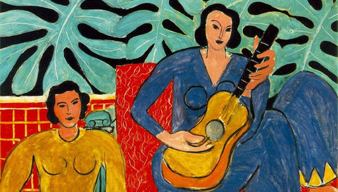 Monstera deliciosa - detail from 'La Musique' by Henri Matisse, 1939