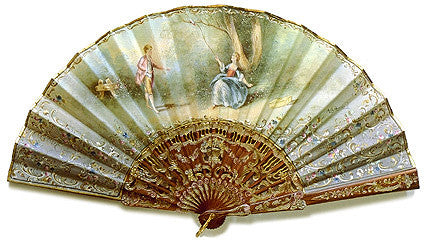 Antique and Vintage Hand Fan AF052