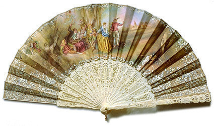 Antique and Vintage Hand Fan AF066