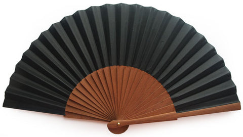 Plain Wooden Hand Fan CG0031BK