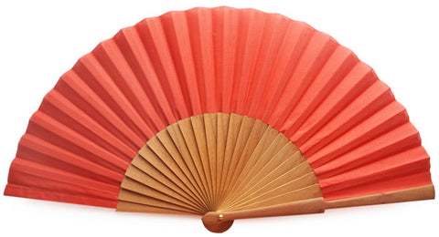Plain Wooden Hand Fan CG0031R