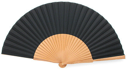 Plain Wooden Hand Fan EC0123CK