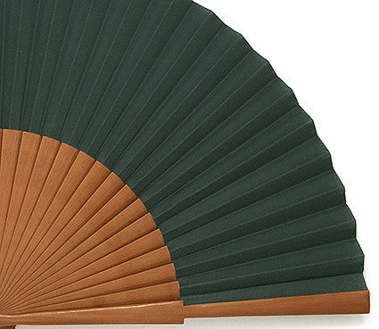 Plain Wooden Hand Fan EC0123GRN