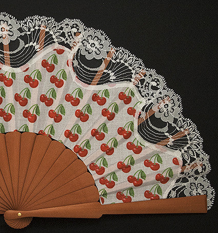 "Funny Hand Fan FH116CR ""Cherries"""