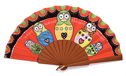 "Funny Hand Fan FH120MT ""Matryoshka dolls"""