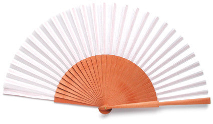 white beautiful hand fan