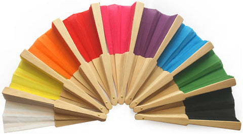 Plain Wooden Fans for Weddings and Parties