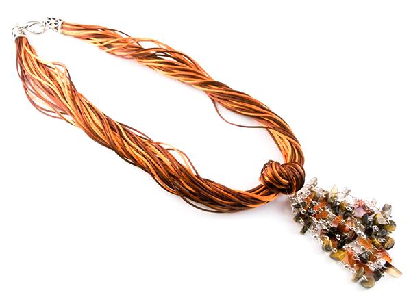 Orange Big Cordelia Necklace