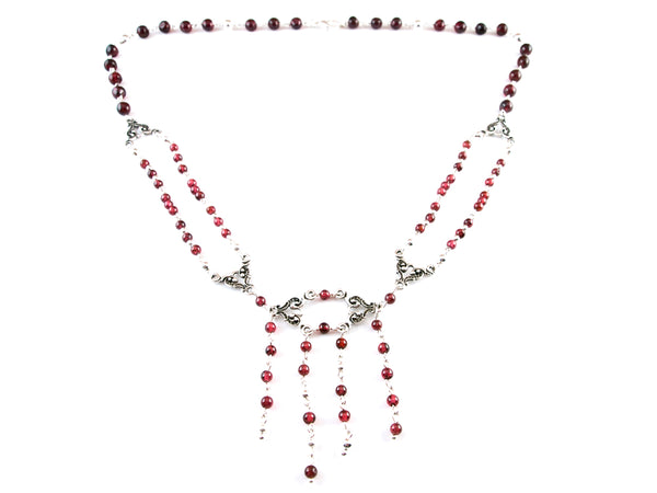 Garnets Opera Necklace