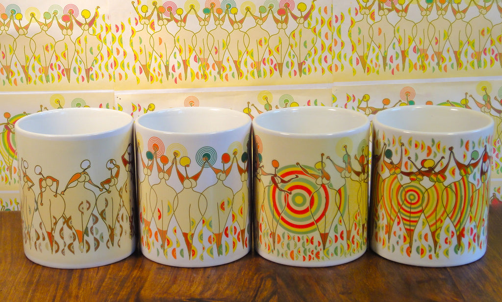 Awakening The Divine Feminine 4 Mug Set