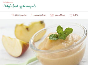 Recipe, Baby food : Apple puree 4-6 months
