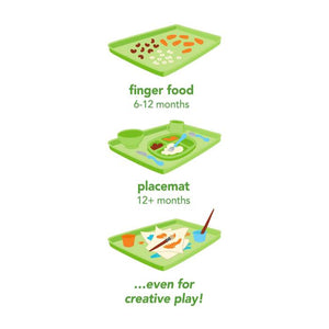 Green sprouts Platemat Made From Silicone ถาดรองซิลิโคน