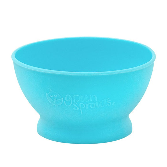 Green sprouts Feeding Bowl Made From Silicone ชามซิลิโคน