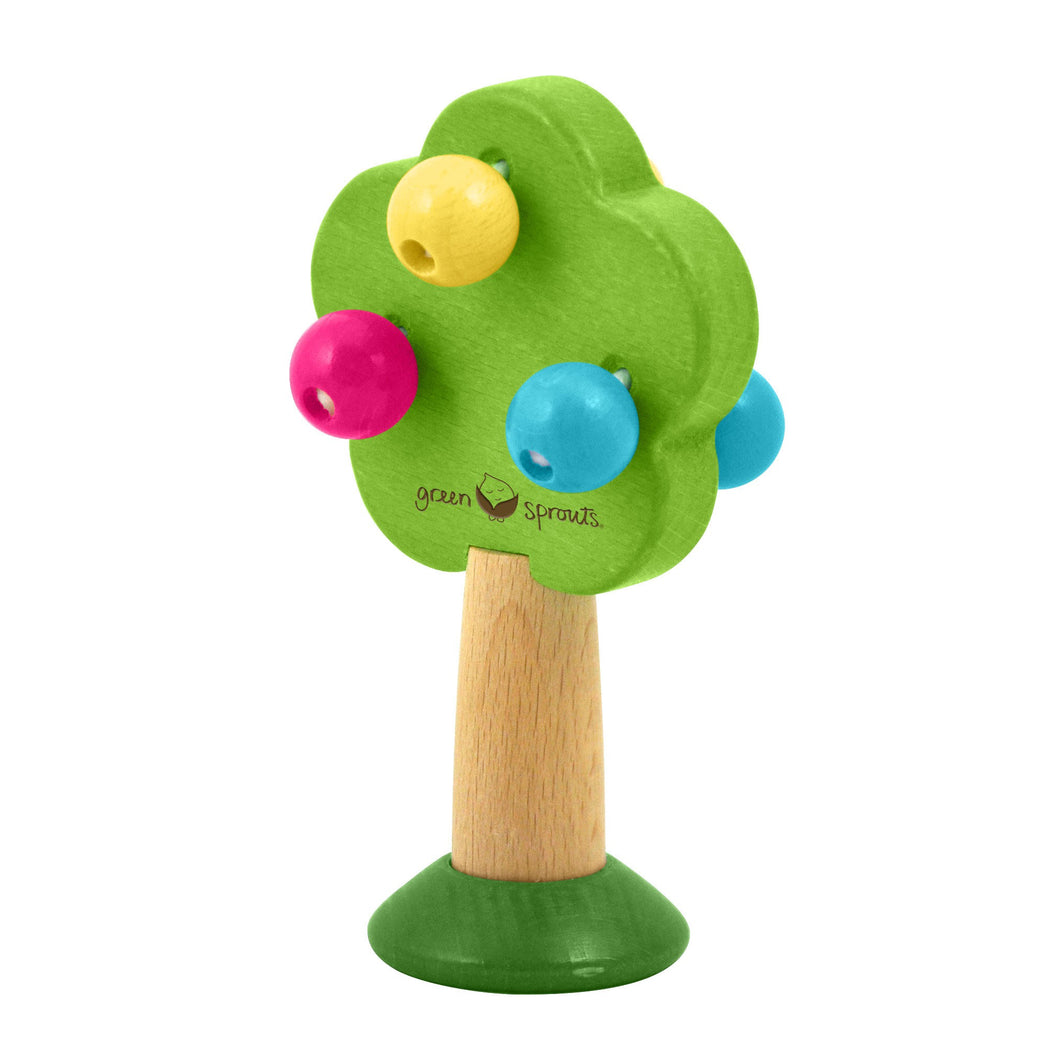 Green Sprouts Tree Rattle Made From Sustainable Wood ของเล่นเขย่ารูปต้นไม้