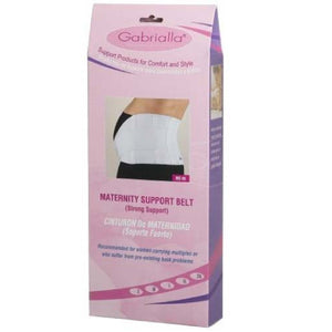 Gabrialla Maternity Support Belt-(Strong Support)-White