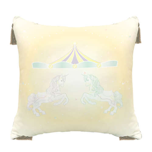 Grow หมอนอิงขนาด18นิ้ว ลายDolce de Carousel Grow Decorate Pillow-Dolce de Carousel