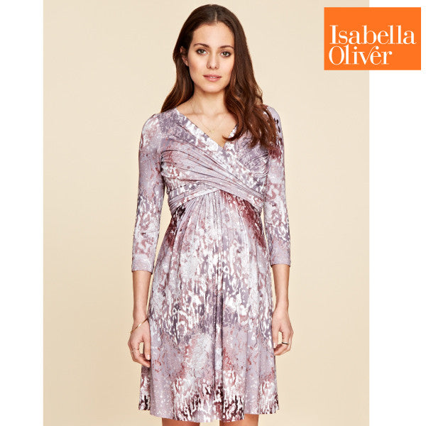 Isabella Oliver Nile Dress-Berry Print