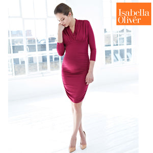 Isabella Oliver Olivia Dress-Berry