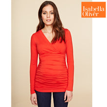 Load image into Gallery viewer, Isabella Oliver Poppy Top-Winter Orange