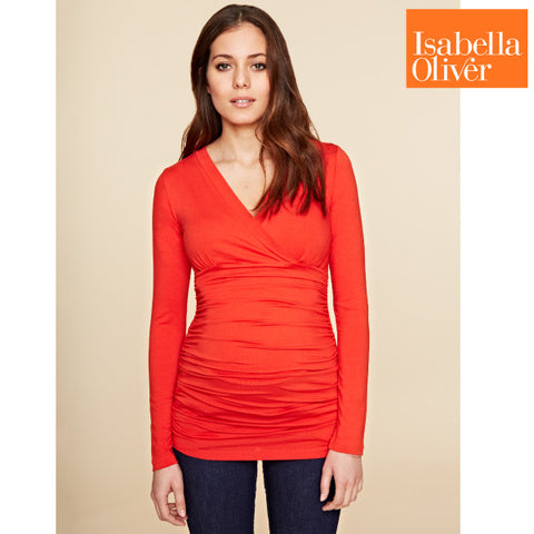 Isabella Oliver Poppy Top-Winter Orange
