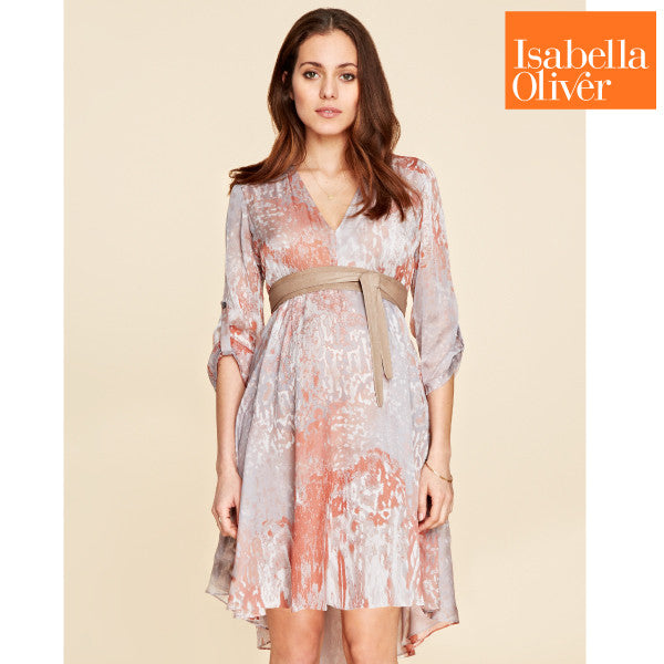 Isabella Oliver Lexington Silk Tunic-Copper Print