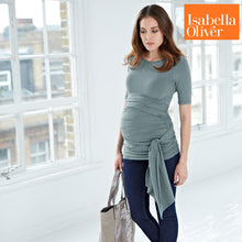 Load image into Gallery viewer, Isabella Oliver The Ruched Wrap T-Sage