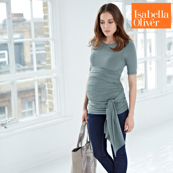 Isabella Oliver The Ruched Wrap T-Sage