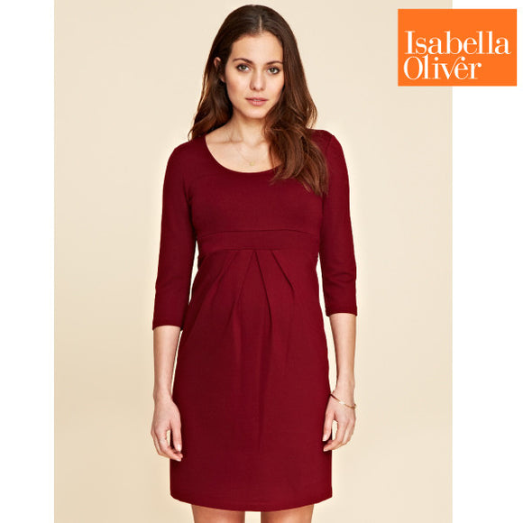 Isabella Oliver Lizzie Dress-Wine