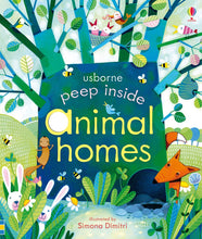 Load image into Gallery viewer, Usborne books Peep inside animal homes  3Y+ หนังสือ Peep inside animal homes เหมาะสำหรับ 3 ปีขึ้นไป