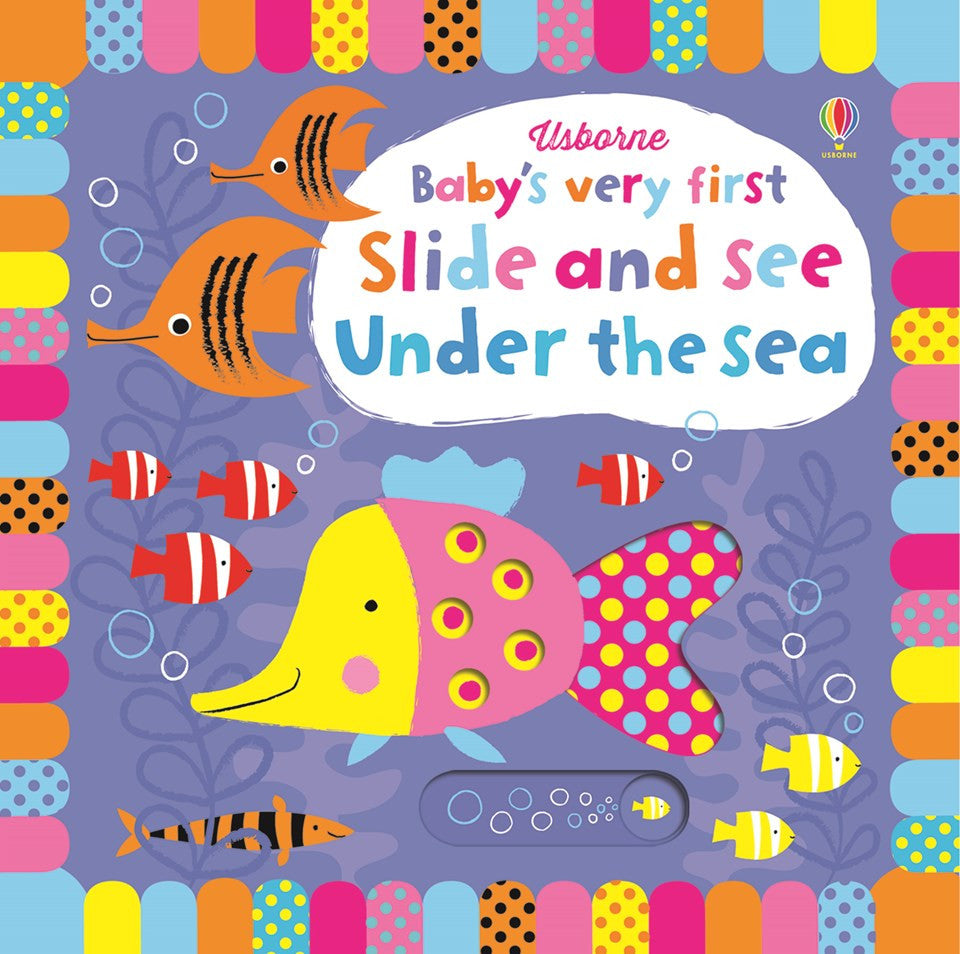 Usborne Baby's very first slide and see  under the sea หนังสือBaby's very first slide and see  under the sea  จาก Usborne สำหรับเด็ก 1 ปี ขึ้นไป