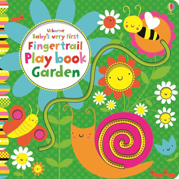 Usborne books Baby's very first fingertrail play book garden  10M+ หนังสือ Baby's very first fingertrail play book garden สำหรับ 10 เดือนขึ้นไป
