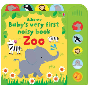 Usborne books Baby's very first noisy book zoo  10M+ หนังสือ Baby's very first noisy book zoo  สำหรับ 10 เดือนขึ้นไป