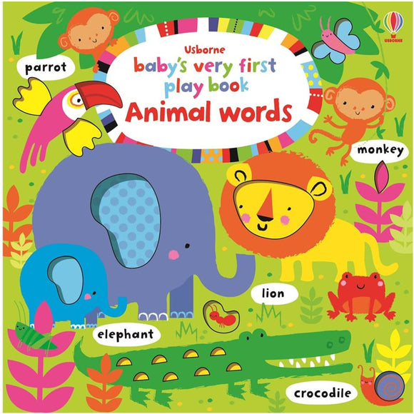 Usborne books Baby's very first play book animal words  6M+ หนังสือ Baby's very first play book animal words  สำหรับเด็ก 6 เดือนขึ้นไป