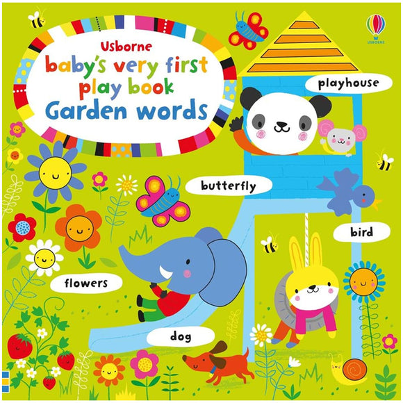 Usborne books Baby's very first play book garden words  หนังสือ Baby's very first play book garden words สำหรับเด็กแรกเกิดขึ้นไป