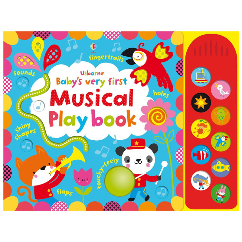 Usborne books Baby's very first touchy-feely musical play book 0 months+ หนังสือ Baby's very first touchy-feely musical play book   สำหรับเด็ก แรกเกิดขึ้นไป