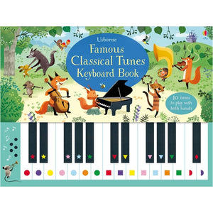 Usborne Famous classical tunes keyboard book  4Y+ หนังสือ Famous classical tunes keyboard book เหมาะสำหรับ 4 ปีขึ้นไป