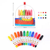 Joan Miro - Transparent Plastic box Silky Crayon 12 Colors