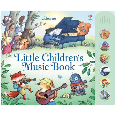 Usborne Little children's music book with musical sounds  3Y+  หนังสือ Little children's music book with musical sounds สำหรับเด็ก 3 ปีขึ้นไป