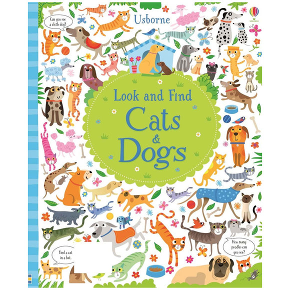Usborne books  Look and find cats and dogs  5Y+  หนังสือ Look and find cats and dogs เหมาะสำหรับ 5 ปีขึ้นไป