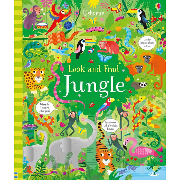 Usborne books  Look and find jungle  5Y+  หนังสือ Look and find jungle เหมาะสำหรับ 5 ปีขึ้นไป