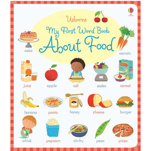 Usborne books My first word book about food  2Y+ หนังสือ My first word book about food  สำหรับ 2 ปีขึ้นไป