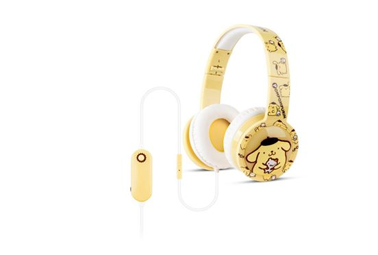 Sparrow Kids KC05VL   Pompompurin     - kida headphones with voice recorder  หูฟัง สแปร์โรว์ คิดส์  Pompompurin